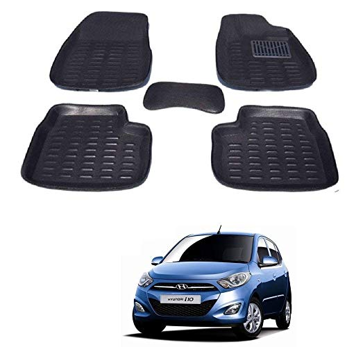 Kozdiko Car 3D Mats Foot Mat Black Color