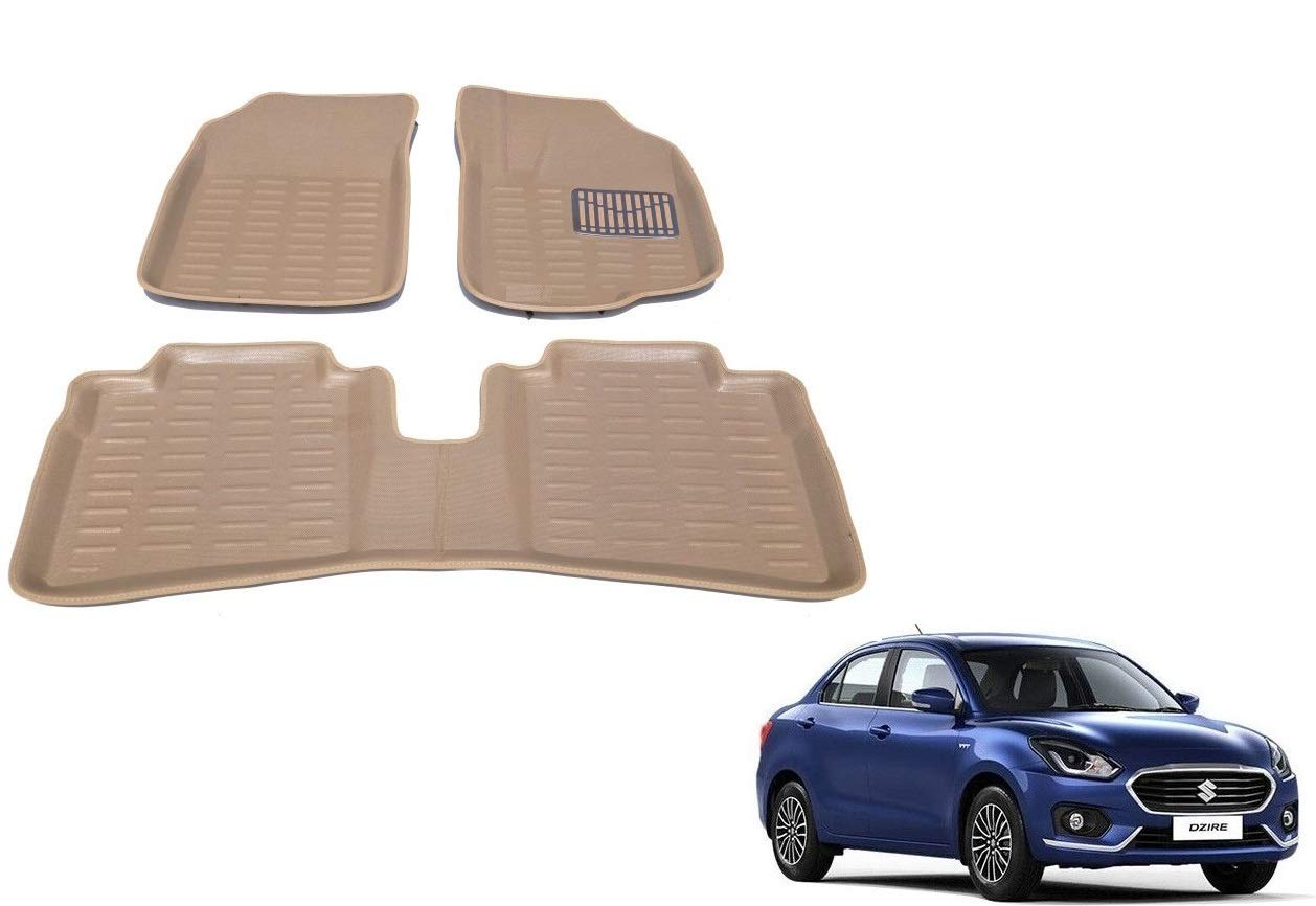 Kozdiko 3D Car Foot mats Beige Color