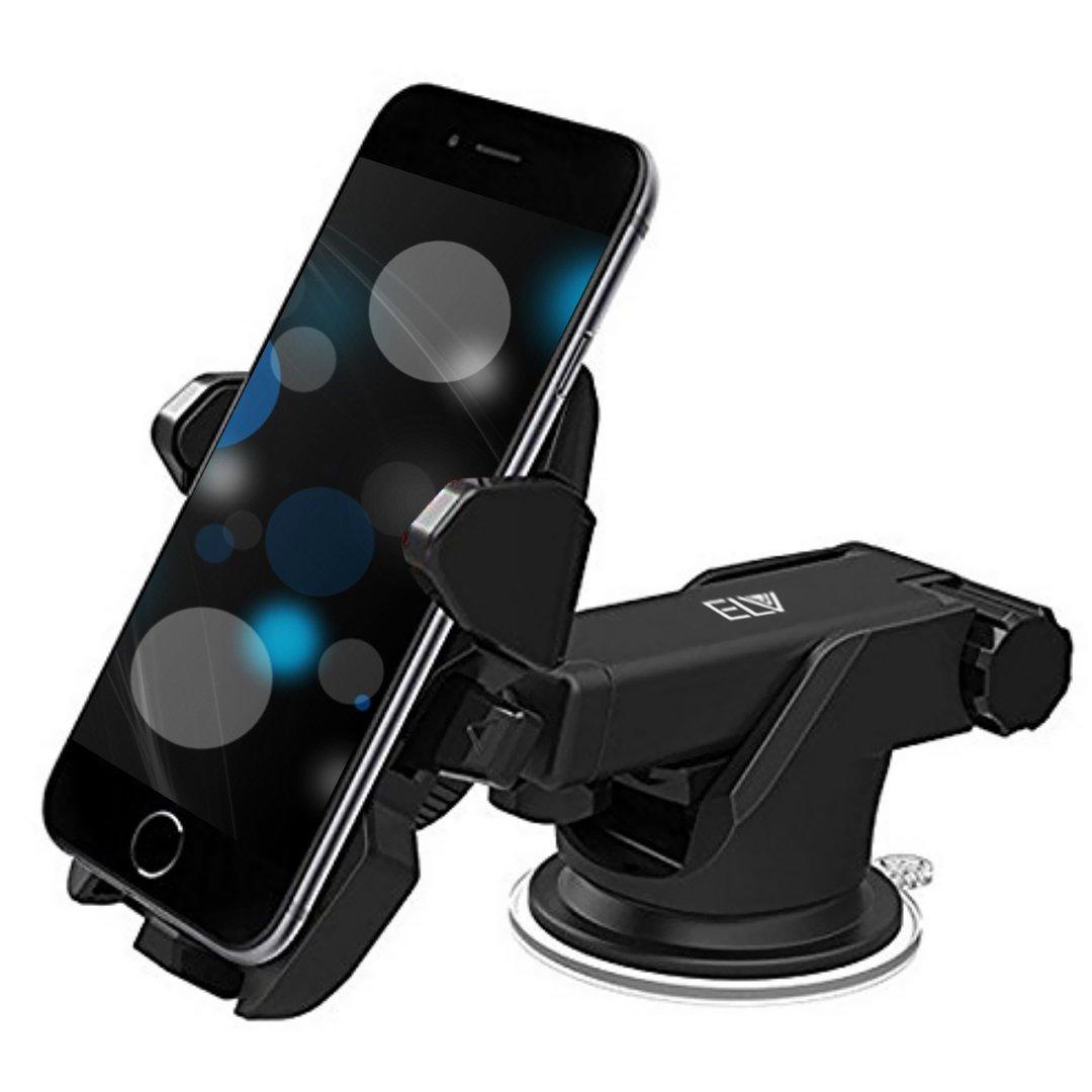 ELV Car Mount Adjustable Car Phone Holder – Black