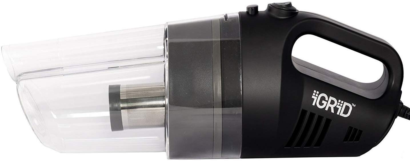 iGRiD Car Vacuum Cleaner with Stainless Steel HEPA Filter (12V)