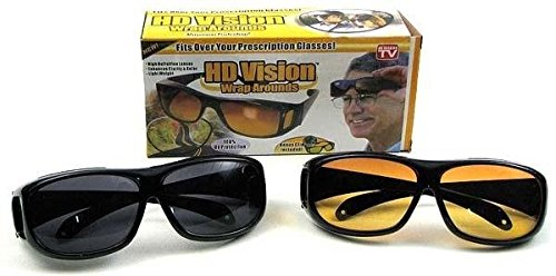GOSFRID with GF LOGO HD UV Protection Night Vision Sunglasses