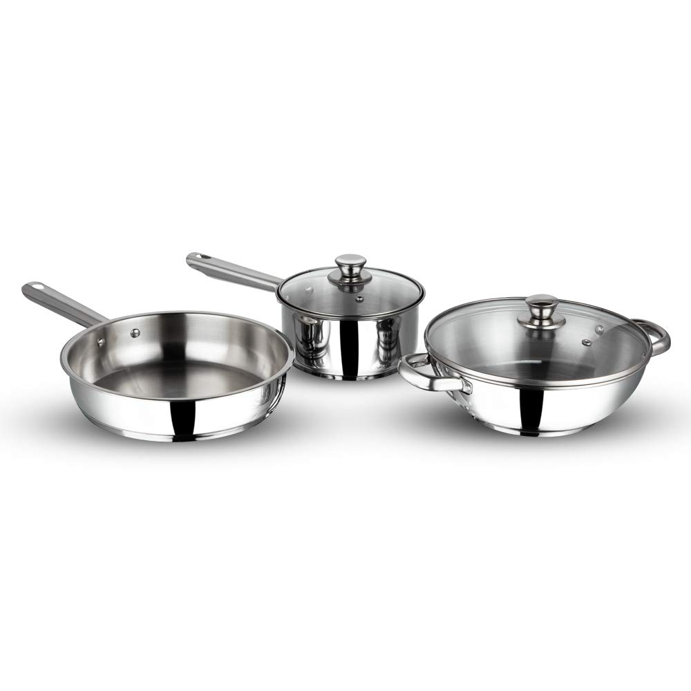 Vinod Stainless steel induction friendly Modena cookware set
