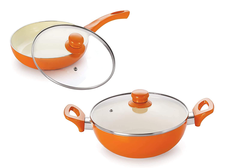 Nirlon Ceramic Aluminium Cookware Set