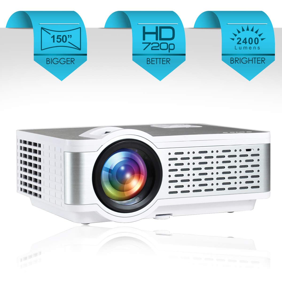Egate I9 Real HD 720p (1080p Support) LED Projector