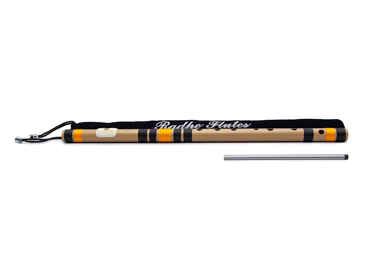Radhe Flutes PVC Fiber C Natural Bansuri