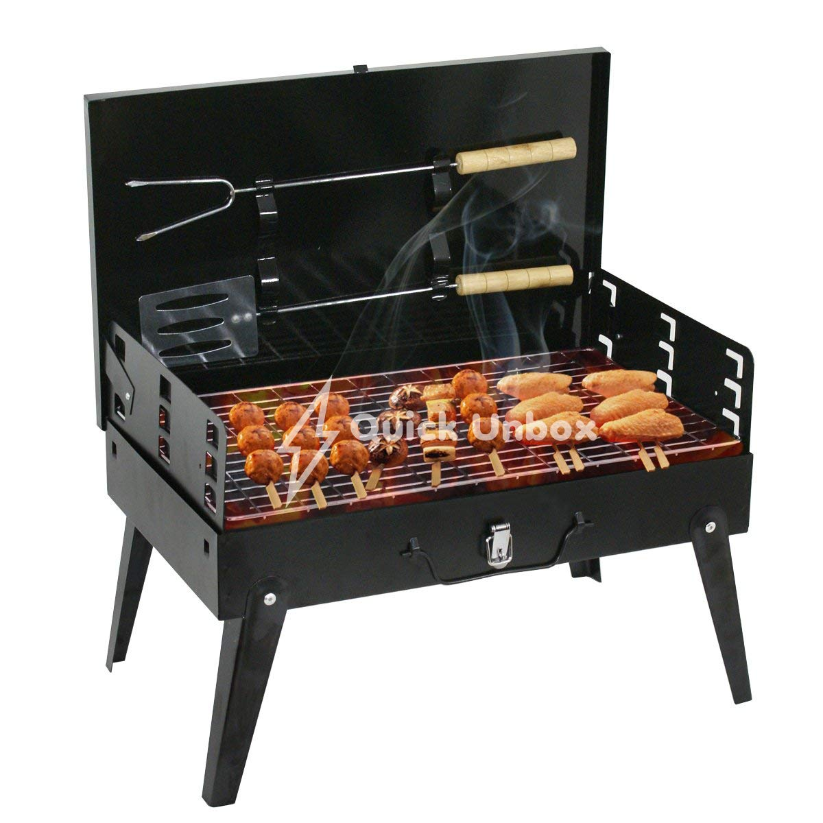 QUICK UNBOX Foldable Charcoal Barbeque