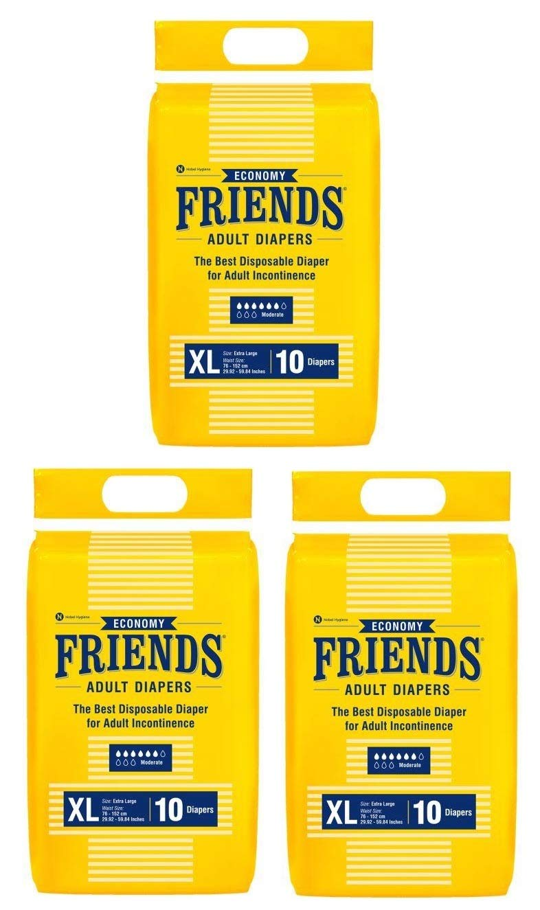 Friends Economy Adult Diapers Tape Style – XL
