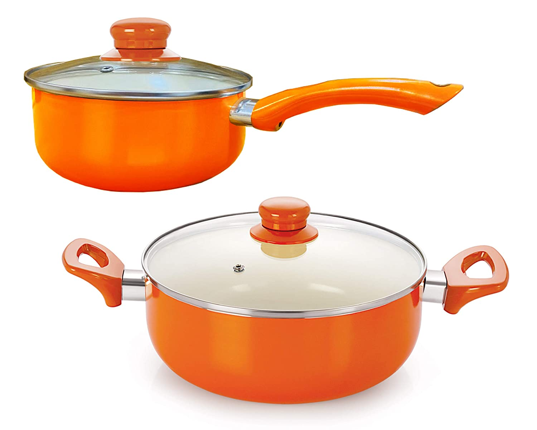 Nirlon Ceramic Induction Aluminium Cookware Set