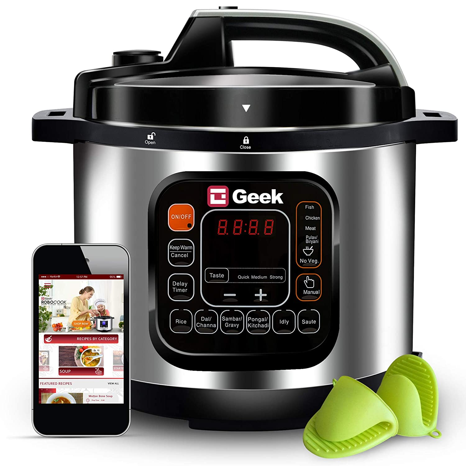 Geek Robocook Automatic 5 Litre Electric Pressure Cooker