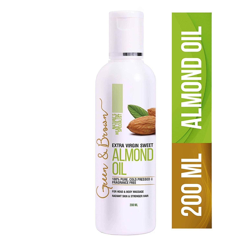 Green & Brown Sweet Almond Oil