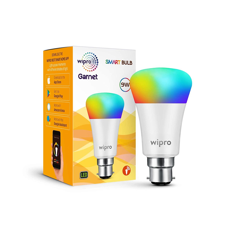 wipro Wi-Fi Enabled Smart LED Bulb B22 9-Watt