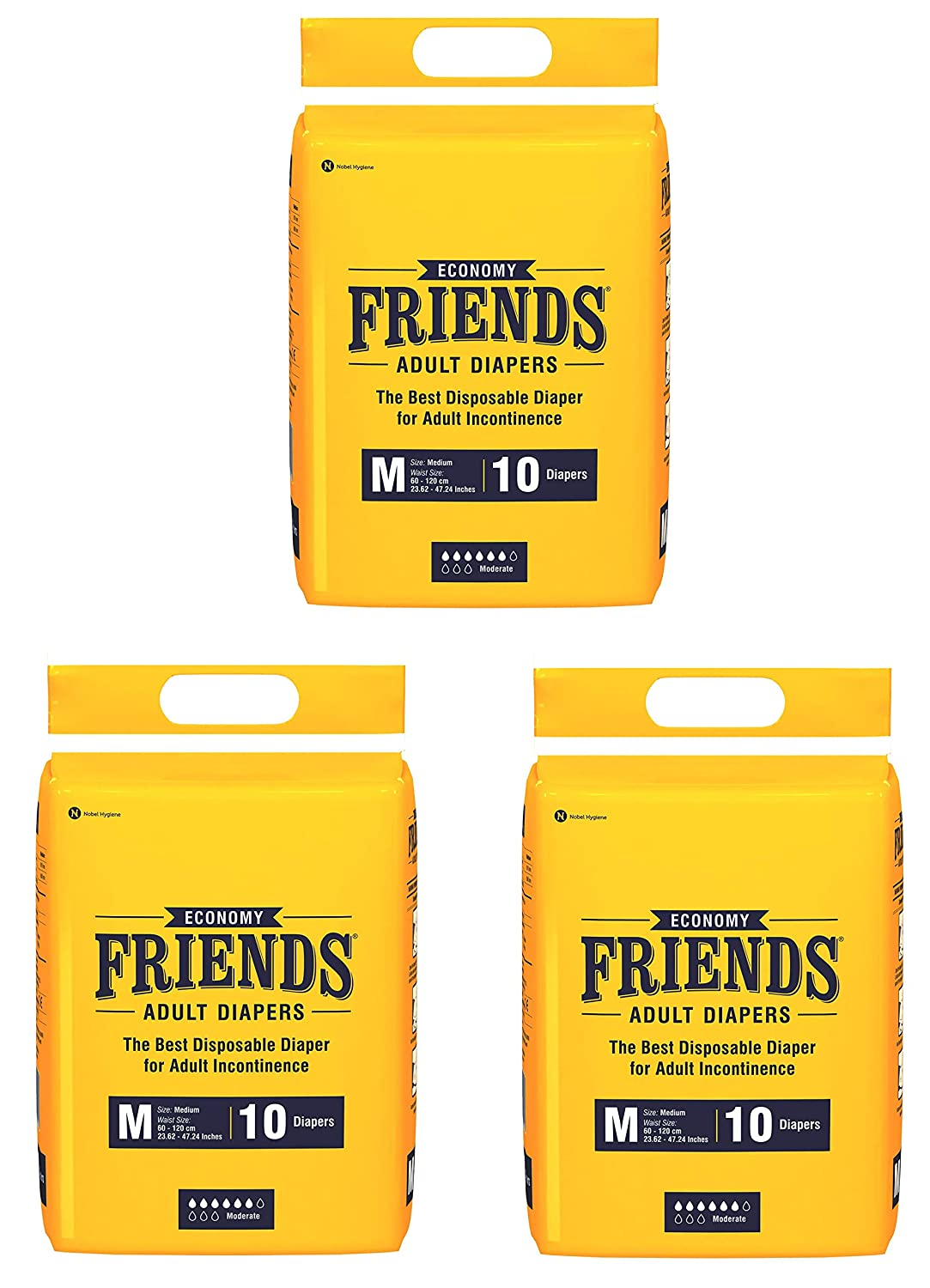 Friends Economy Adult Diapers Tape Style – M
