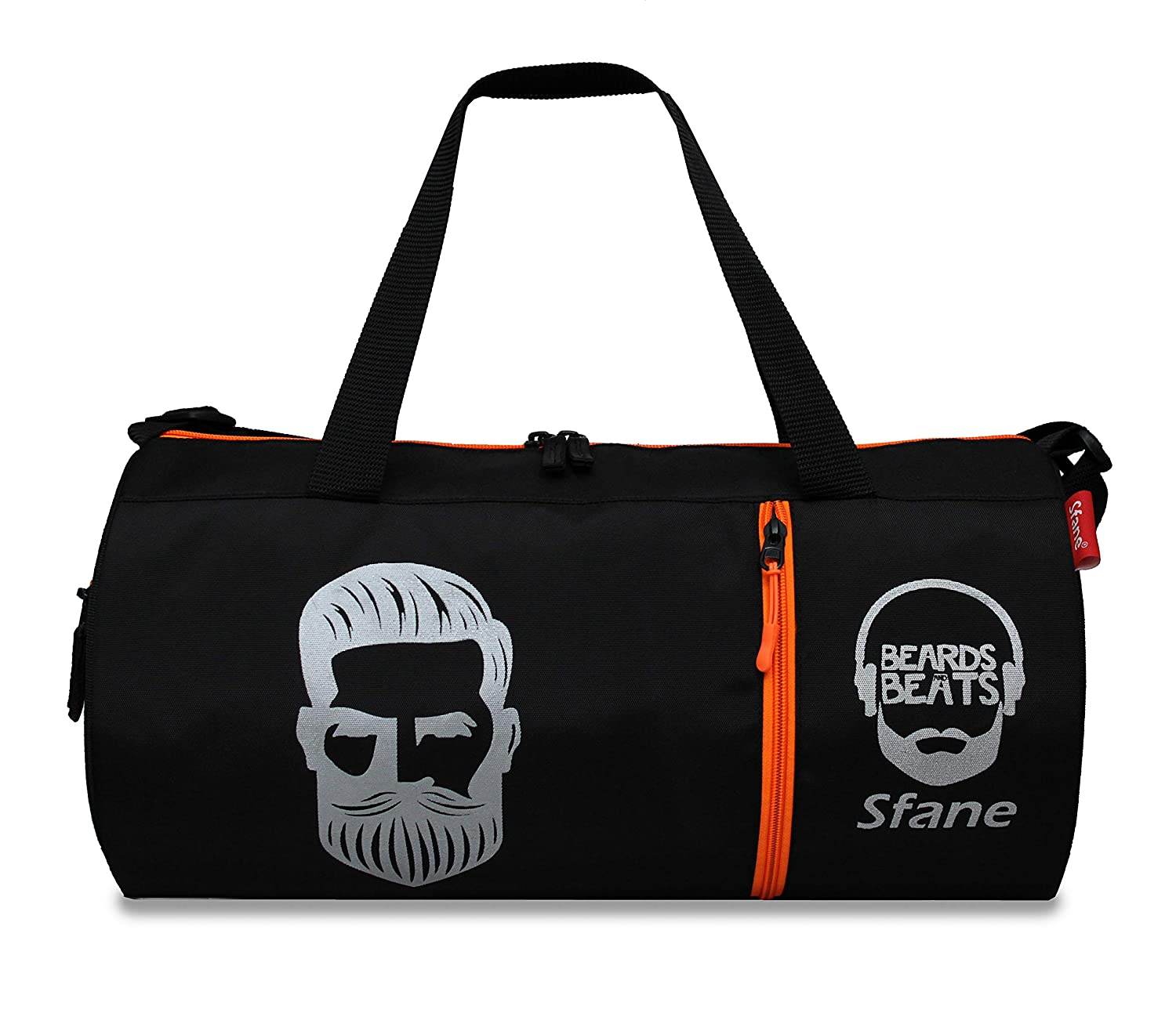 Sfane Black Sports Duffle Gym