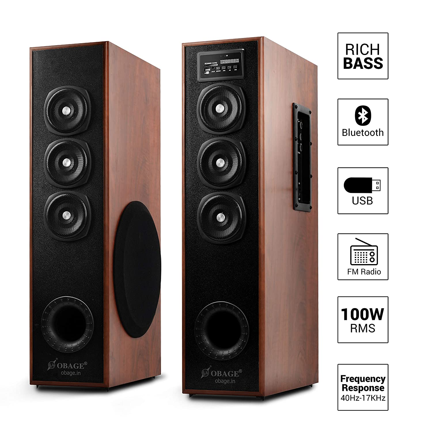 OBAGE DT-2605 Home Theater Tower Speaker